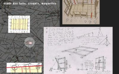 étude structurelle, bâtiment «J» du complexe aristocratique gaulois de Batilly