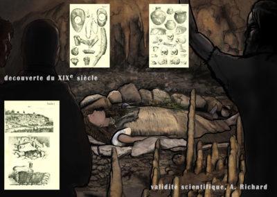 tombe préhistorique en grotte de Cravanche
